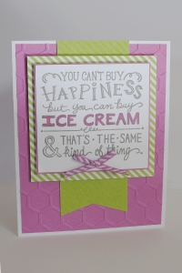 Thistle Embossed Ice Cream Card