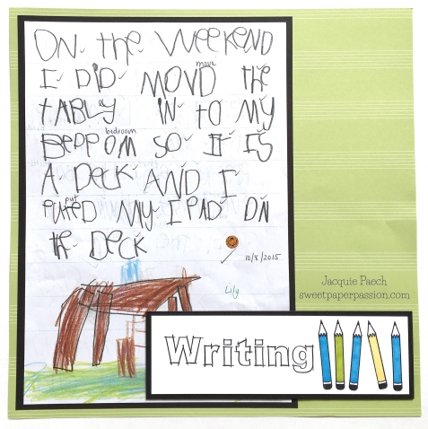 School Days Writing Aug17